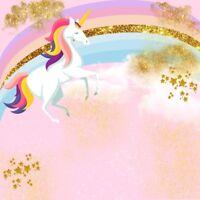 6x6Ft Unicorn Birthday Party Studio Backdrop Vinyl Photo Background Props