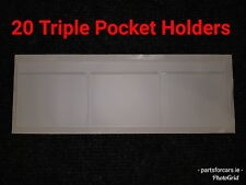 TD3WX20 - [20] WINDSCREEN PLAIN TRIPLE POCKET HOLDER WHITE