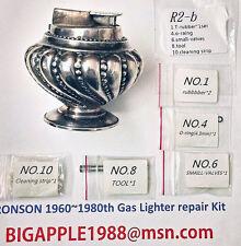 Ronson 1960~1980th Vintage Gas Lighter repair Kit R2-b Free Youtube DIY Video 8