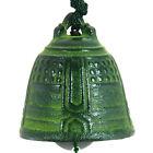Japanese Furin Wind Chime Bell Nambu Cast Iron Iwachu Green Temple Made in Japan