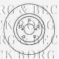 BORG & BECK BBD5103 BRAKE DISCS (PAIR) FRONT AXLE RC567322P OE QUALITY
