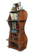 Wooden Bookcase Wall Rack Standing Mini Bar Storage Shelving Folding Bookshelf