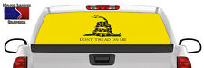 Gadsden Flag Dont Tread On Me BACK Window Graphic Perforated Decal Truck SUV