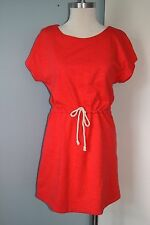 J Crew orange knit casual dress XS drop waist kimono tunic excellent