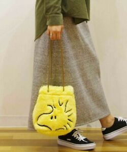 Vintage PEANUTS × ROOTOTE WOODSTOCK Fur Pochette Tote Bag Shoulder + Pouch NEW