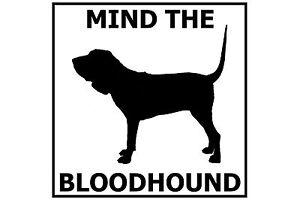 Mind the Bloodhound - Gate/Door Ceramic Tile Sign