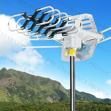 Outdoor HDTV Home Amplified Antenna TV UHF/VHF OTA 360° Rotation 36dB 150 Miles