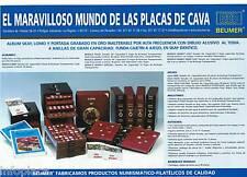 12 HOJAS  BT para 432 Placas.GRANATE Album para PLACAS DE CAVA,Con CAJETÍN