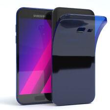 Ultra Slim Cover für Galaxy A3 (2017) Case Silikon Hülle Transparent Blau