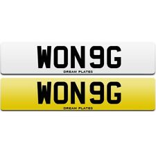 WONG personal private cherished number plate WON 9G