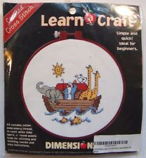 """NOAH'S ARK DIMENSIONS 72316 Counted Cross Stitch Kit Graphed Pattern 6"""" Round"""