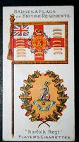Norfolk Regiment     Superb Original 1904 Vintage Colour Card  VGC