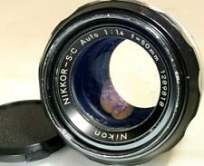 Nikon 50mm f1.4 Nikkor-SC Non Ai lens (missing aperture & mount ) for parts