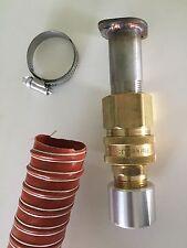 """Honda EU6500is & EU7000is Inverter Generator 1-1/2"""" QD exhaust extension (5 ft)"""