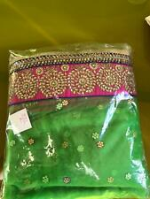 NEW-Designer Net Sari with stone and zerdosi work boarder with all over butties
