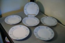 "Set of 6 Noritake ""Blue Hill"" Pattern #2482 Bread and Butter Plates 6 3/8"""