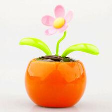 Home Car Flowerpot Solar Power Flip Flap Flower Plant Swing Auto Dance Toy TO