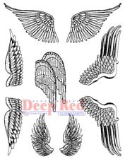 Deep Red Stamps Wings Rubber Cling Stamp