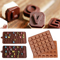 3D Silicone Alphabet Letter Number Mold Candy Chocolate Baking Tool Cake Decor