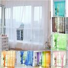 Multi Floral Tulle Voile Door Window Curtain Drape Panel Sheer Scarf Divider New