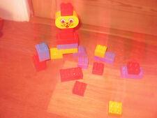 DUPLO LEGO CAT DOG ANIMAL FACE MOVE EYES ASSORTED  COLOURED CONSTRUCTION BRICKS