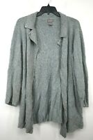 Sigrid Olsen Womens Blue Long Cardigan Open Front Knit Build Flat Collar L