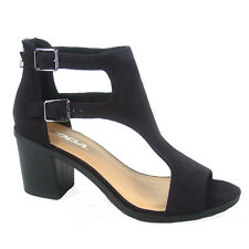Women's Double Buckles Chunky Heel Open Toe Bootie Sandal Shoe Size 5.5 - 11 NEW