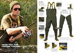 New Vass - Tex 700 Edition Chest Wader 700 - 70E E Nova Series - Carp Fishing