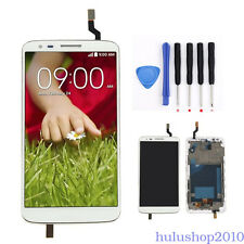 White For LG Optimus G2 D802 D805 LCD Display Screen Touch Digitizer Frame Tools