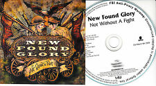 NEW FOUND GLORY Not Without A Fight UK 12trk numbered/watermarked promo test CD