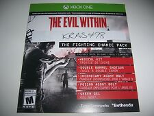 The Evil Within Xbox One 1 DLC CODE - Fighting Chance Pack - No Game Included