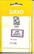DAVO Alba Clear Mounts Lot of 3 Packs - 25 pcs. ea - 57x55mm, Def. Plate Blocks#