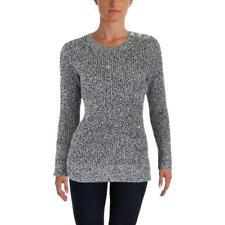 Lauren Ralph Lauren Womens B/W Knit Colorblock Pullover Sweater Top L BHFO 9698