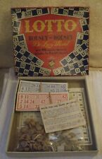 VINTAGE BOXED GAME ** LOTTO or HOUSEY-HOUSEY **De Luxe Model by CODEG PRODUCTION