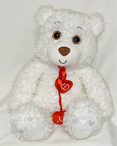 """First and Main Stuffed Plush Teddy Bear Val Willoughby 10"""" Super Soft Hearts"""