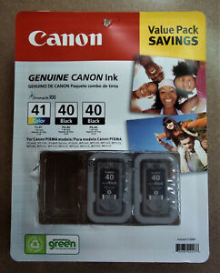 Canon PG-40 and PG-40 Black Ink Cartridge 2-Pack - Genuine & New!