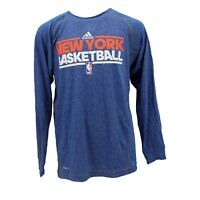 New York Knicks Official NBA Adidas Kids Youth Long Sleeve Athletic Shirt New