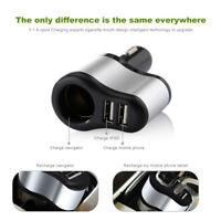 2x USB Steckdose Adapter 1 Fach Kfz Auto Zigarettenanzünder Verteiler Buchse TOP