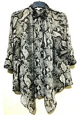 Vero Moda classic  Candice 3/4 sleeve shirt in snake print