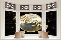 Huge 3D Bay Window Strictly Come Dancing Glitter Ball View Stickers Mural 1103