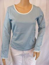 ★ PREGO ★ M  ~ hellblau blau~ Tolles Shirt T-Shirt langarm ~ Longsleeve ~ NEU