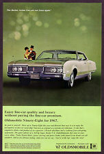 1966 Original Vintage Oldsmobile Ninety Eight 98 1967 Car Photo vintage print ad