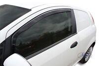 FIAT PUNTO GRANDE EVO 3 door  2006-up Front wind deflectors 2pc TINTED HEKO