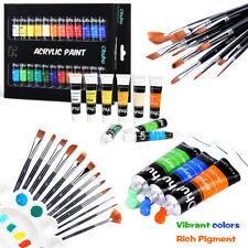 Ohuhu Acrylic Paint Set 24 Colors Acrylic Painting Kit & Art Brushes with Bonus