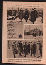 WWI Treaty Brest-Litovsk Soviet Russia Germany Austria-Hungary 1919 ILLUSTRATION