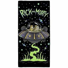 OFFICIAL RICK AND MORTY UFO BEACH BATH TOWEL 100% COTTON KIDS LARGE