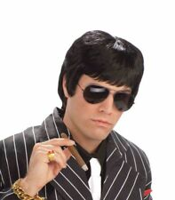 FORUM TOUGH GUY BLACK WIG GANGSTER SCARFACE HALLOWEEN COSTUME ACCESSORY 65386
