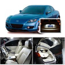For Mazda RX8 2004-2014 Xenon White LED Interior kit + White License Light LED