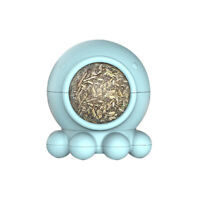 AU_ Funny Octopus Pet Cats Molar Rotatable Ball Interactive Bite Chew Catnip Toy