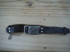 Vintage Girl Guide Belt Leather With Buckle Brown - Bukta Reg Official Pattern